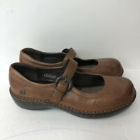 Born Shoes Maryjanes Women Size 9.5M/W Brown Leather Upper