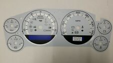07-14 CUSTOM ESCALADE DASH CLUSTER WHITE GAUGE FACE INLAY ONLY WITH SILVER BANDS