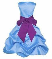 TURQUOISE BLUE COLOR DRESS FLOWER GIRL WEDDING BRIDESMAID MAID OF HONOR BIRTHDAY