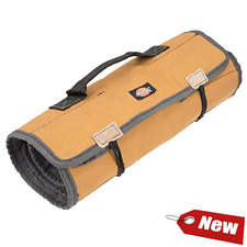 Large Wrench Roll Tools Roll Up Bag Storage Organizer 23 Tools Pockets Holder