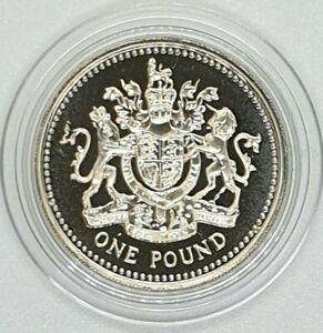 Royal Mint 2008 Royal Arms Proof £1 Coin - One Pound