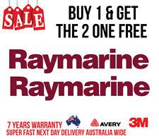 2 x RAYMARINE DECAL STICKER FOR BOATS / FISHING MARINE GRADE 290MM WIDE BURGUNDY