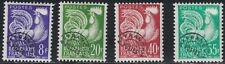 France SC910-913 GalicClock(Type1954 Issues w/pre-cancellations (H)