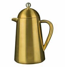 La Cafetiere THERMIQUE Brushed GOLD Coffee Maker DOUBLE WALLED Steel 3 Cups