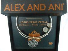 Alex and Ani Lotus Peace Petals IV Bangle Bracelet Rafaelian Silver NWTBC
