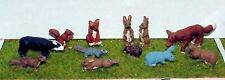 More details for british english wild animals l22p painted o scale model 1/43 animals metal
