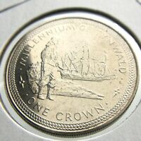 1979 Isle of Man One 1 Crown Millennium Tynwald Brilliant Uncirculated Coin P640