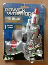 HTI Toys Power Warriors Space Blaster Laser Gun with 7 Sounds Carded Vintage