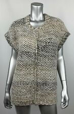 Pure Jill Womens Sweater Vest XS S Wool Mohair Blend Chunky Knit Loose Fit Crew