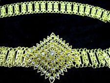 GOLD PLATED COSTUME WOMEN BELT VINTAGE THAI TRADITIONAL FASHION CHAIN WEDDING #4