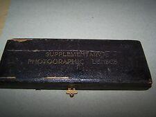 Boxed vintage photographic lenses