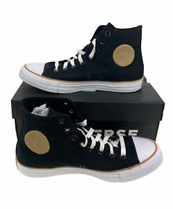 NEW Converse Chuck Taylor All Star Hi Black Gum White Womens Shoes Sneakers 9.5