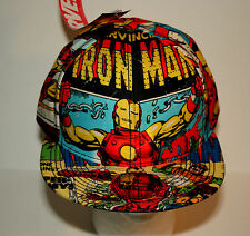 Marvel Comics Bioworld Iron Man Flatbill Graphic Trucker Cap Hat New Tags Sm/Med