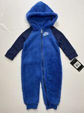 Nike Sportswear bebé Sherpa Con Capucha Mono Mameluco de una pieza Traje Talla 12M 18M