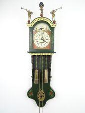 Dutch Friesian Rare Hindeloopen Wall Clock BIG Vintage Antique 8 day Holland