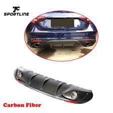 Carbon Rear Bumper Diffuser Lip With Exhaust Tips For Alfa Romeo Giulia 17-19