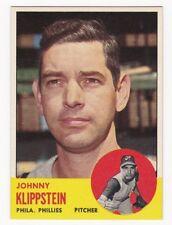 JOHNNY KLIPPSTEIN 1963 Topps Baseball # 571 Philadelphia Phillies NM - MT