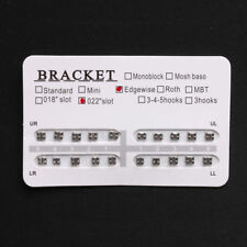 "Orthodontic Dental No Hook 022"" Slot Edgewise Metal Brackets Braces 20 Pcs/Pack"