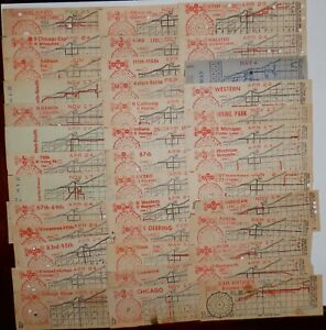 Chicago Transit Authority - Transfers  -  1950's  -  Lot of 39 different  -  CTA