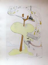Salvador Dali 1975 Hand Signed Etching HOMMAGE A  - VISIONS DE QUEVEDO Suite