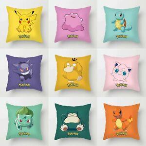 Pokemon Pillowcase Cushion Cover Pikachu, Gengar, Snorlax & More UK seller