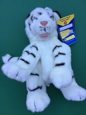 Build a Bear Retired Full Size Striped White Tiger Plush Toy - Unstuffed - NWT