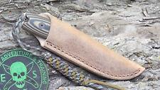 ESEE IZULA II CUSTOM WATER BUFFALO OUTBACK KNIFE SHEATH CASE BY CHARLIE CLINE