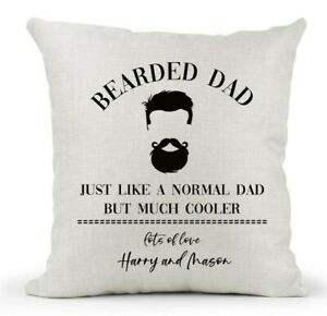 Personalised Cushion, Bearded Dad/Grandad/Uncle/Brother Gift.. Birthday Xmas