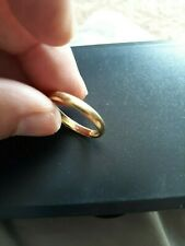 18K Solid Gold Band 3.9 Grams Size 11 Or Scrap