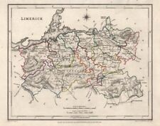 COUNTY LIMERICK antique map for LEWIS by CREIGHTON & DOWER. Ireland 1846