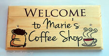 Welcome To My Coffee Shop PERSONALISED - Plaque / Sign / Gift - Kitchen Mum Aunt
