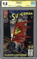 Superman Death #75D Direct Variant 1st Printing CGC 9.8 Signed By: DAN JURGENS