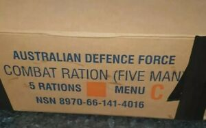 Ration pack. CR5M ADF Australian military camping hiking food