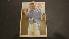 1968 Topps Poster Inserts Johnny Unitas