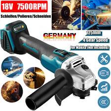 Ø125mm 18V Akku Winkelschleifer Trennschleifer Schleifmaschine Flex Für Makita