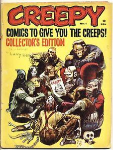 CREEPY #1 FA/G, Frank Frazetta, Jack Davis, Warren Magazines 1964 Low Grade