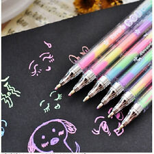 2X Cute Highlighter Pen Marker Stationary Point Pen Ballpen 6Color Gift FT