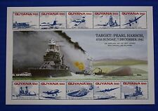 Guyana (#2452) 1991 Wwii - Pearl Harbor Mnh sheet