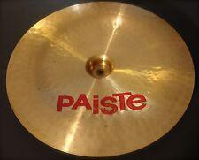 "Paiste 2002 China type cymbal 18 "" vintage made in Switzerland"