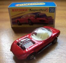 MATCHBOX LESNEY SUPERFAST 1-75 No:36d HOT ROD DRAGUAR JAGUAR from 1970 VGC Boxed