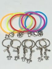 Moana Party Bag Fillers Friendship Bracelets Keyrings & Phone Cord X12 PIECES
