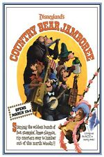 "VINTAGE DISNEY POSTER - COUNTRY BEAR JAMBOREE - DISNEYLAND 8.5"" x 11"""