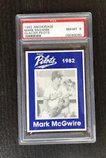 1982 ANCHORAGE MARK MCGWIRE GLACIER PILOTS RC PSA 8 GRADED BASEBALL CARD