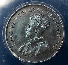 Canada 1c One Cent 1920 MS62 BN ANACS KM#28 Obverse Struck Through ERROR