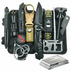 Tactical Survival Gear and Equipment 12 in 1, Survival Kit, Fishing Hunting