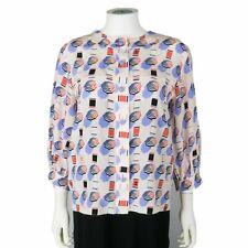 Chanel - 2019 Top Umbrella Print Silk Blouse - 3/4 Sleeve - US 4 - 36