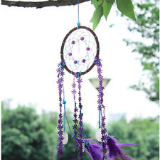 New Dream Catcher With Feather Circular Wall Hanging Decoration Car Craft