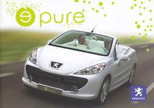 Peugeot 207 E pure electric drive elektik Cabriolet prospectus brochure 2006 34