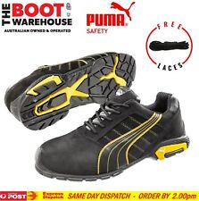 "Puma Safety Aluminium Toe Cap Light Work Jogger / Shoes 'Amsterdam 642717""."