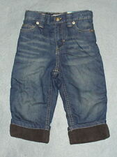 NWT Boys Fleece Lined Relaxed Fit Jeans Size 12 Months w/ Adjustable Waist